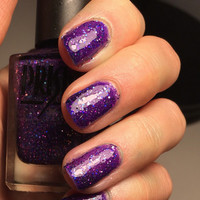 Bewitched- Purple Glitter Handmade Indie Nail Polish