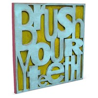 "10"" Brush Your Teeth Sign"