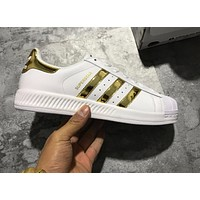 Copy of 2017 Newest Adidas Originals Superstar White / Blue Red / Gold Metallic Sneakers Classic Casual Shoes-1