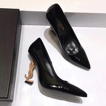 YSL Yves Saint laurent Women Fashion Casual High Heels Shoes