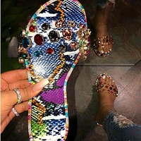 New diamond-studded slippers women's sandals