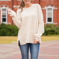 Timeless Traditions Sweater, Cream