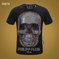Philipp Plein Men Fashion T-Shirt Top Tee Black Size M-XXXL