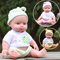 28cm baby doll Rotomolded PVC dolls baby bath toy belt voice-activated water dolls  Lifelike Accompany Doll Toy
