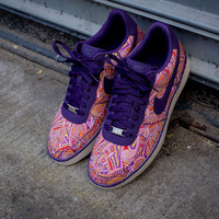 NIKE X Liberty Air Force 1 Downtown Low - Grand Purple | Sneaker | Kith NYC