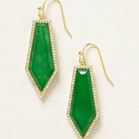 Jade Dagger Drops by Melanie Auld Green One Size Earrings