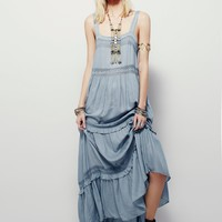 Bohemian hippie style strap lace dress pleated long summer dress