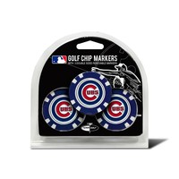 Team Golf Chicago Cubs 3-pack Poker Chip Ball Markers (Cub Team)