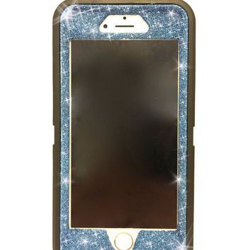 iPhone 6 (4.7 inch) OtterBox Defender Series Case Glitter Cute Sparkly Bling Defender Series Custom Case Black / blue