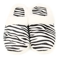 Animal Print Cushioned Clog Indoor Outdoor Non Slip Sole Slippers Zebra S 5-6