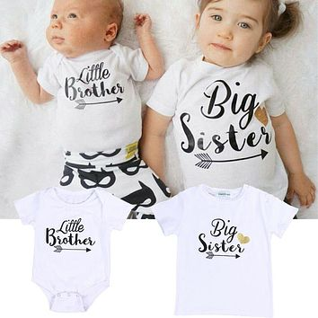 Little Brother Romper - Big Sister T-Shirt