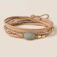 Bryn Suede Necklace and Wrap Bracelet