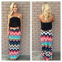 Black Itsy Bitsy Crop Top