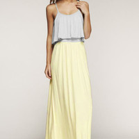 Spring Fever Yellow & Grey Maxi Dress – Gypsy Outfitters - Boho Luxe Boutique