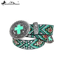 Montana West Rhinestone Western Aztec Cross Belt