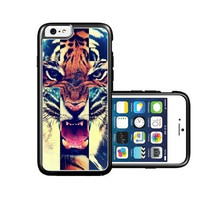 RCGrafix Brand Tiger Roar Cross Hipster Quote iPhone 6 Case - Fits NEW Apple iPhone 6