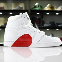 Air Jordan 1 Red Heart Sport Sneaker Shoe 36-46