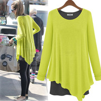 Spring Clothing Maternity Pregnant Dresses Casual Faux Two Piece Knitted Basic Shirt Twinset Clothes For Pregnant Women