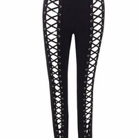Lace Up Front Bandage Pants