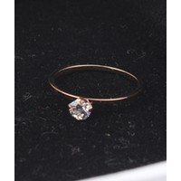 Imitation diamond ring wild fashion rose rose gold ring finger ring finger accessories