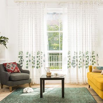 Drapes with Silver Dollar Tree