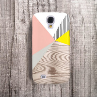 Yellow Samsung Galaxy Case Samsung S4 Case Pink Wood Print Gloss Galaxy S4 Case Gifts for Her Wood Galaxy S4 Case Stripe Case