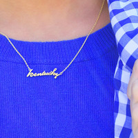 kentucky proud necklace, gold