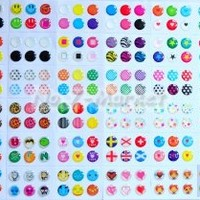 Magic-T 216pcs Cute Polka Dots Dots Colorful Rubber Bubble Home Button sticker for iPhone 3gs 4 4s 5 iPod touch 4 iPad 4