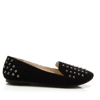 Studded Penny Loafer Flats