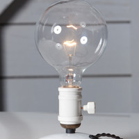 Industrial Desk Light - Bare Bulb Lamp