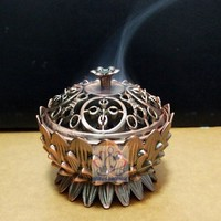 Lotus Alloy Mini Tibetan Incense Burner