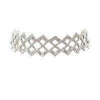 Dutchess Lattice Rhinestone Choker Necklace