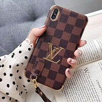 Louis Vuitton LV Newest Popular iPhone Phone Cover Case For iphone 6 6s 6plus 6s-plus 7 7plus 8 8plus iPhone X XR XS XS MAX Coffee