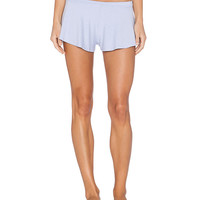 Low Rise Ruffle Wide Leg Stretchy Shorts