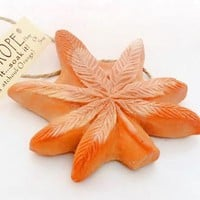 Orange Haze Dope on a Rope - Patchouli & Orange Pot Leaf shaped Soap on a Rope