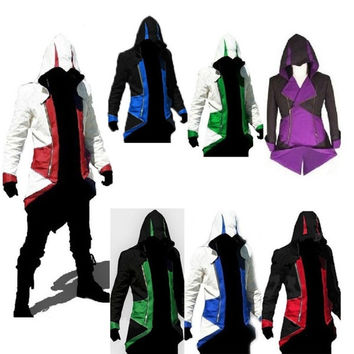 High-quality Assassin's Creed III Hoodie Jacket For Men Children  Women Free Necklace = 1931773060