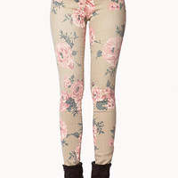 Cabbage Rose Skinny Jeans