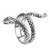 Women Heavy Metals Snake Rings