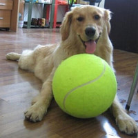 Giant Tennis Ball Dog Toy - Inflatable - 22cm