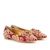 dolce & gabbana - embellished brocade slipper-style loafers