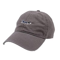 Longshanks Solid Logo Hat in Grey Twill by Country Club Prep