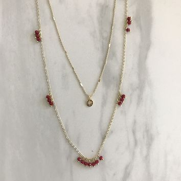 Cherry Blossom Gold Layered Necklace