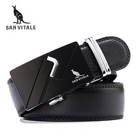Fashion designer leather strap male automatic buckle belts for men authentic girdle trend men's belts ceinture