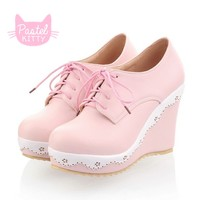 Cute Pastel Pink Wedge