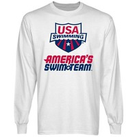 USA Swimming America's Swim Team Long Sleeve T-Shirt - White