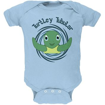 Sea Turtle Totally Tubular Funny Pun Cute Soft Baby One Piece