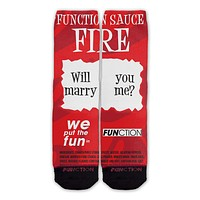 Function - Fire Sauce Will You Marry Me Fashion Socks