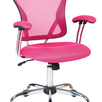 Ave Six Juliana Task Chair in Pink Mesh
