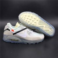 OFF-WHITE x Nike Air Max 90 Ice 10X AA7293-100 Size 39-45
