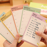 Weekly Daily My Schedule Sticky Notes / Cute Sticky Note Schedule Planner / Kawaii Sticky Notes / Stationery / Stationary / School Supplies